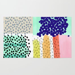 dots and color blocks Rug