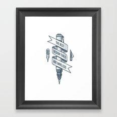 Old School Designer Framed Art Print