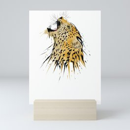 This leopard karate design is the perfect gift for martial artists who loves Taekwondo or Kung Fu Mini Art Print