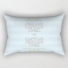 Waffles Friends Work Rectangular Pillow