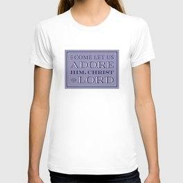 Catholic Christmas Card Adore T-shirt