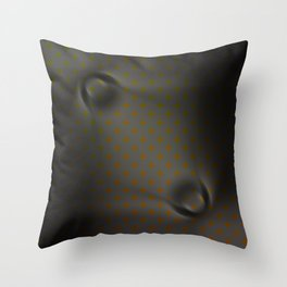 Distorted Silver Copper Metal Pattern Design Throw Pillow