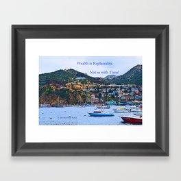 """Catalina Harbor""/ ""Time"" Framed Art Print"
