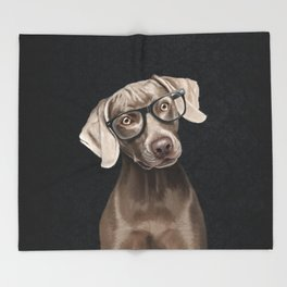 Mr Weimaraner Throw Blanket