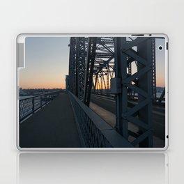 sunset on the bridge Laptop & iPad Skin