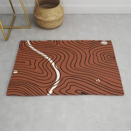 Geography Pattern Rug