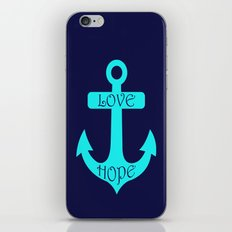 Anchor Navy Turquoise iPhone & iPod Skin