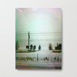 White Ouch! Metal Print