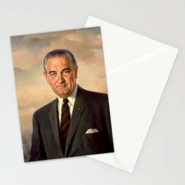 President Lyndon Johnson Painting Stationery Cards