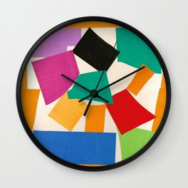 Henri Matisse - The Snail cut-out series portrait painting Wall Clock