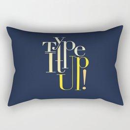 Type It up! Rectangular Pillow