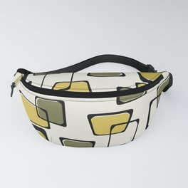 Skewed Squares Midcentury Pattern Chartreuse Fanny Pack