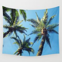 palm trees Wall Tapestries featuring Palm Trees by Jillian Stanton
