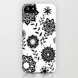 Geometric Flowers number 2 iPhone Case