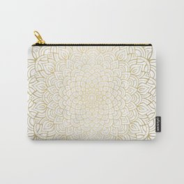 Unfolding Gold Mandala Carry-All Pouch