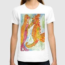 Sarah Mermaid and Kenneth Seahorse T-shirt