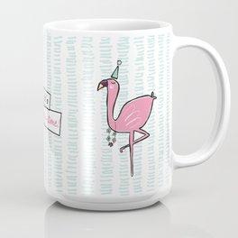 """It's party time"" Flamingo Coffee Mug"
