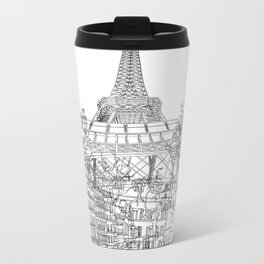 Paris! B&W Metal Travel Mug