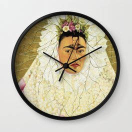 """Frida Kahlo Exhibition Art Poster - """"Diego on my mind"""" 1988 Wall Clock"""