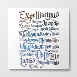 harry potters magic spell Metal Print