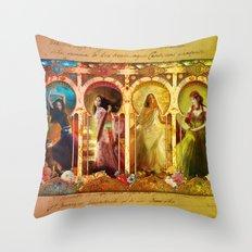 Joy Faith Hope and Love Throw Pillow