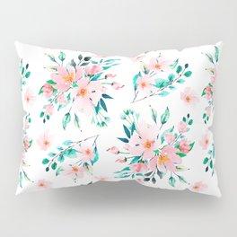 Watercolor flower pattern, hand drawn Pillow Sham