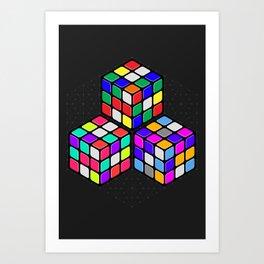 Graphic 947 // Rubik's Cube Isometric Illustration Art Print