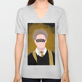 Movie wizard, yellow Unisex V-Neck
