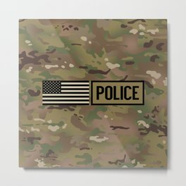 Police: Woodland Camouflage Metal Print