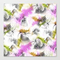 Leafy pattern Canvas Print
