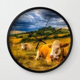 Resting Cows Wall Clock