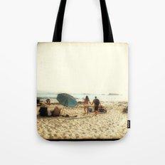Beach Couple Tote Bag