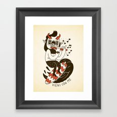 Vieni con Me Framed Art Print