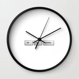 Alt Control Delete Funny Programmer Wall Clock