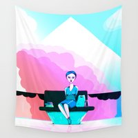 shopping Wall Tapestries featuring Shopping by IOSQ