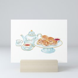 British afternoon tea with scone Mini Art Print