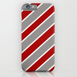 TEAM COLORS ONE RED,GRAY WHITE iPhone Case