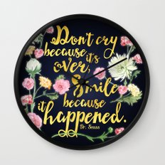 Dr. Seuss - Don't Cry Wall Clock