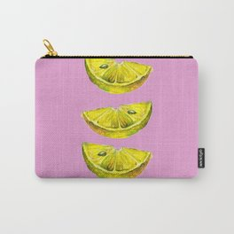Lemon Slices Pink Carry-All Pouch