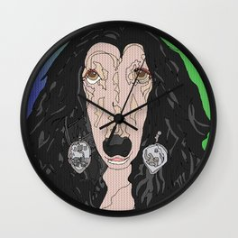 If I Could Turn Back, Dr Bear's Doggie Pop Art of Sher Wall Clock
