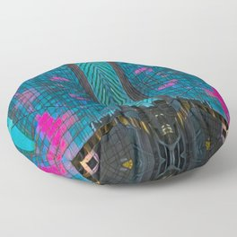 NYC Skyline at Sunset Floor Pillow