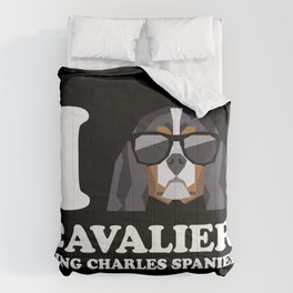 I Love Cavalier King Charles Spaniel modern v2 Comforters