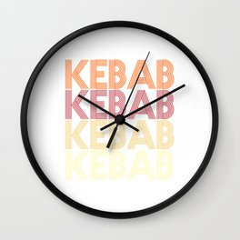 Kebab  TShirt Fastfood Shirt Fast Food Gift Idea Wall Clock
