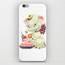Baby Elephant eating Ice Cream iPhone Skin