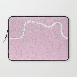 London Pink on White Street Map Laptop Sleeve
