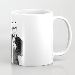 Empty headed men in black suit Coffee Mug