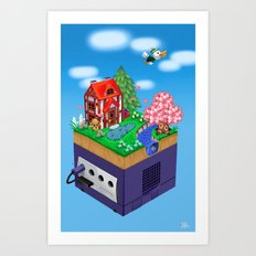 Animal Crossing- Spring Art Print