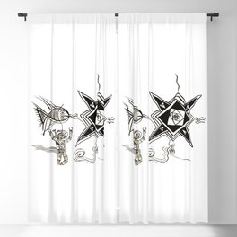 The Fish, The Diver and The Star Blackout Curtain