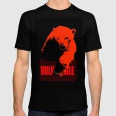 Vulnerable Polar Bear Black MEDIUM Mens Fitted Tee