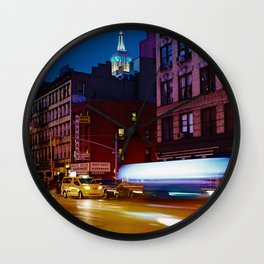 Taxi's Whizzing By Wall Clock